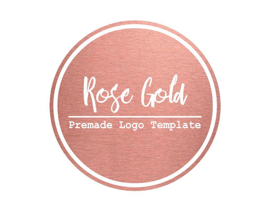Rose Gold Premade Logo Design and Watermark  Rose Gold