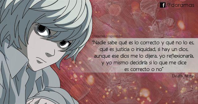 Frases De Doramas Death Note
