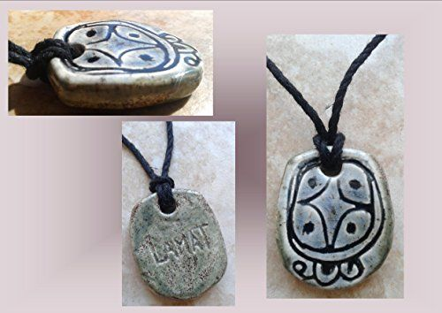 Mayan LAMAT Star Ceramic Necklace Mesoamerican Tzolk'in Day Sign Amulet Pendant