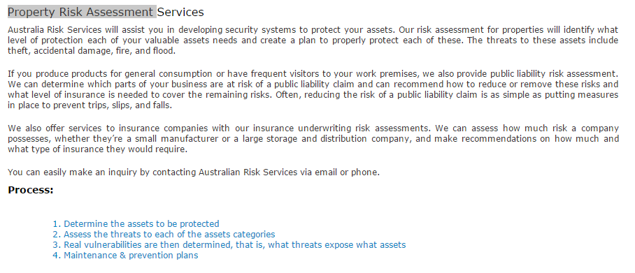 Australia Risk Services Will Assist You In Developing Security