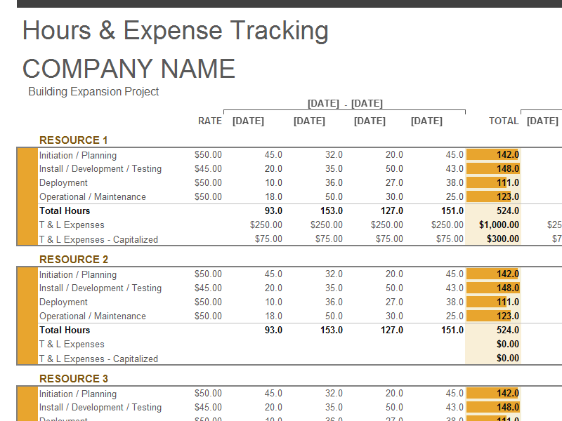 Project Expense Tracking Template is a necessary tool for project ...