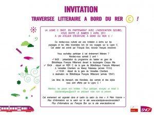 invitation  Habiter la vitesse du train (La Traversée Littéraire à bord du RER C, 2011), un an déjà !