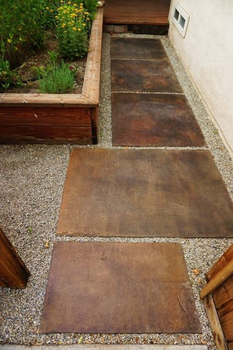 The Easy Way To Stain Concrete Lovely Imperfection Concrete Stain Patio Patio Flooring Patio Pavers Design