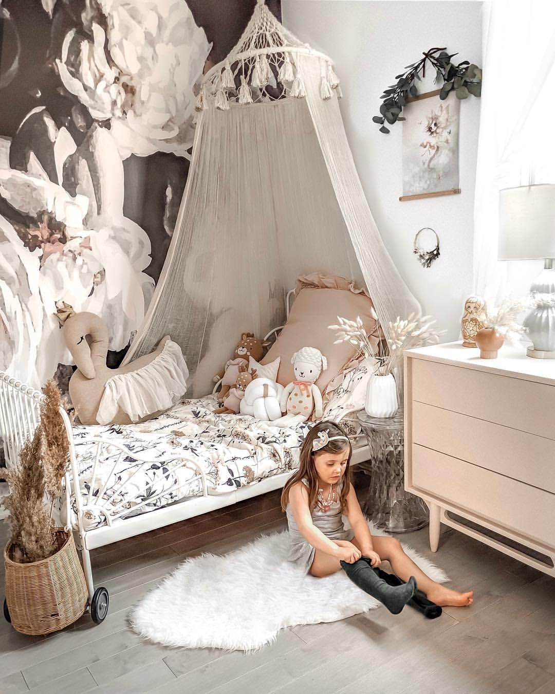 Girl Bedroom Decor Canope Anewall wallpaper (With images
