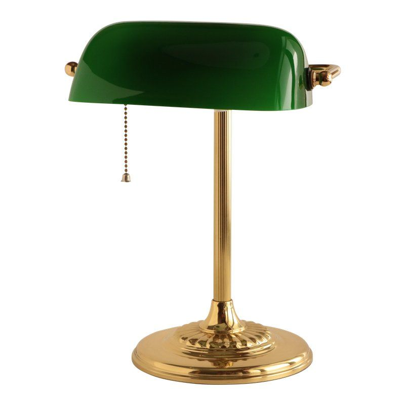 Banker S Lamp In Brass And Emerald Green Bankers Lamp Green Lamp Lamp Decor