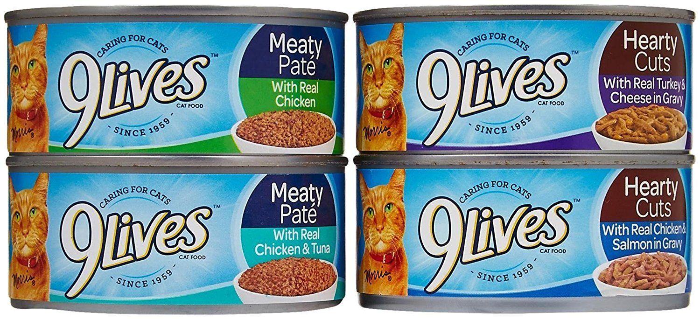 9lives wet cat food variety pack poultry favorites