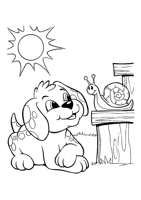 Dog Coloring Pages Momjunction Pictures
