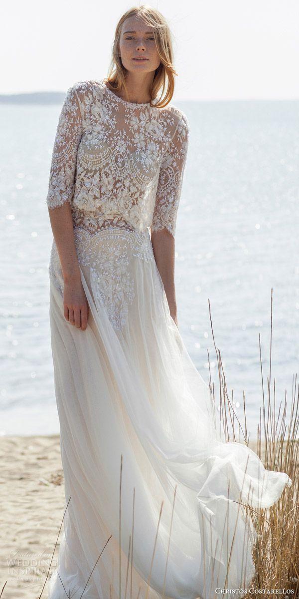 Christos Costarellos Spring 2016 Wedding Dresses Wedding Inspirasi Wedding Dresses Two Piece Wedding Dress Wedding Dress Trends