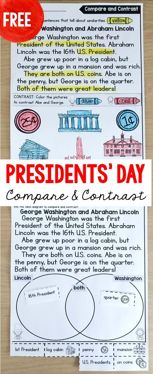 FREE presidents\' day reading passages. Differentiated for ...