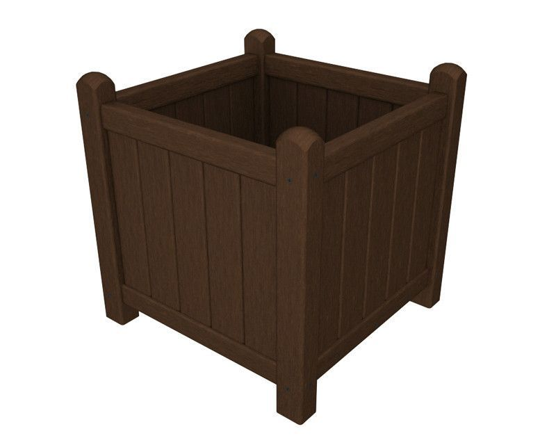"Polywood GP16MA Traditional Garden 16"" Planter in Mahogany"