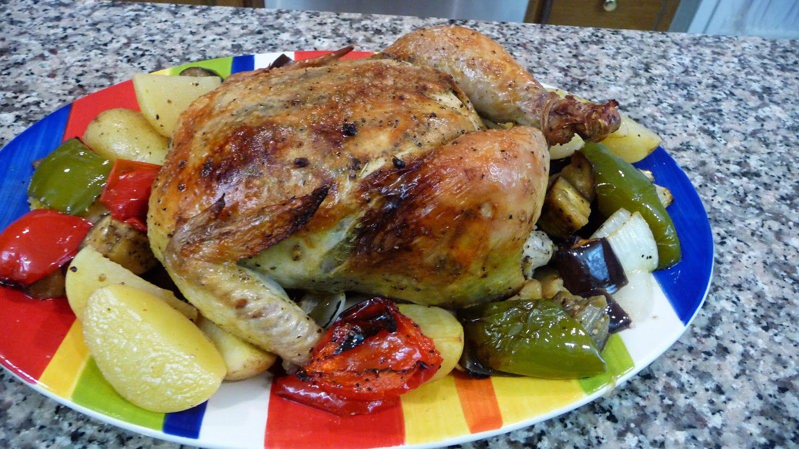 Pollo Rostizado al Horno con Vegetales  Cocina Facil
