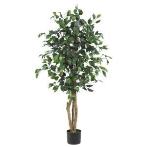 Nearly Natural 4 Ft. Ficus Silk Tree-5299 at The Home Depot