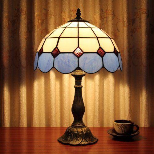 tiffany 12-inch table lamp bedroom lamp european mediterranean bedside lamp minishop tiffany