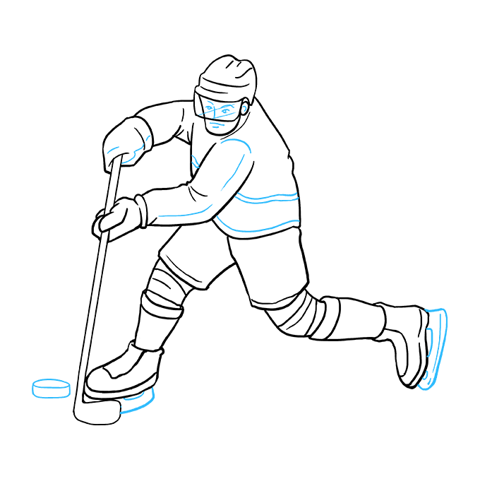 How To Draw A Hockey Player Really Easy Drawing Tutorial Easy Drawings Hockey Players Drawing Tutorial Easy