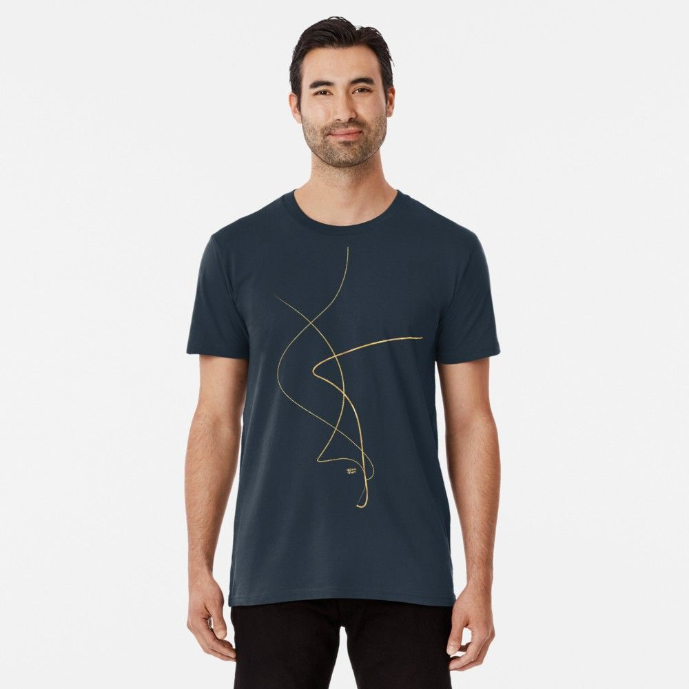 Kintsugi 2 #art #decor #buyart #japanese #gold #white #kirovair #design Premium T-Shirt von Kirovair