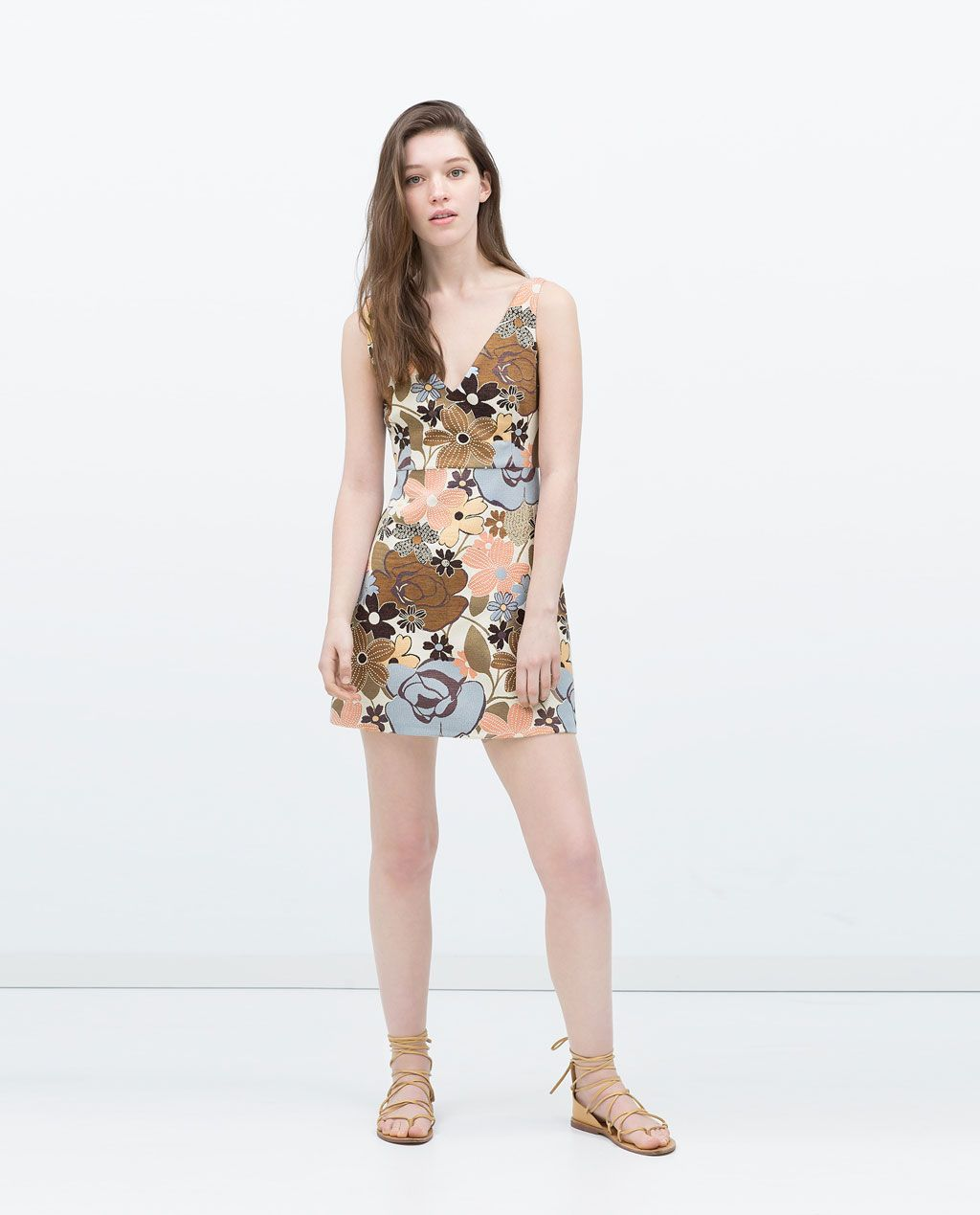 618e20d9d317 Image 1 of JACQUARD DRESS from Zara | Ropa | Jacquard dress, Dresses ...