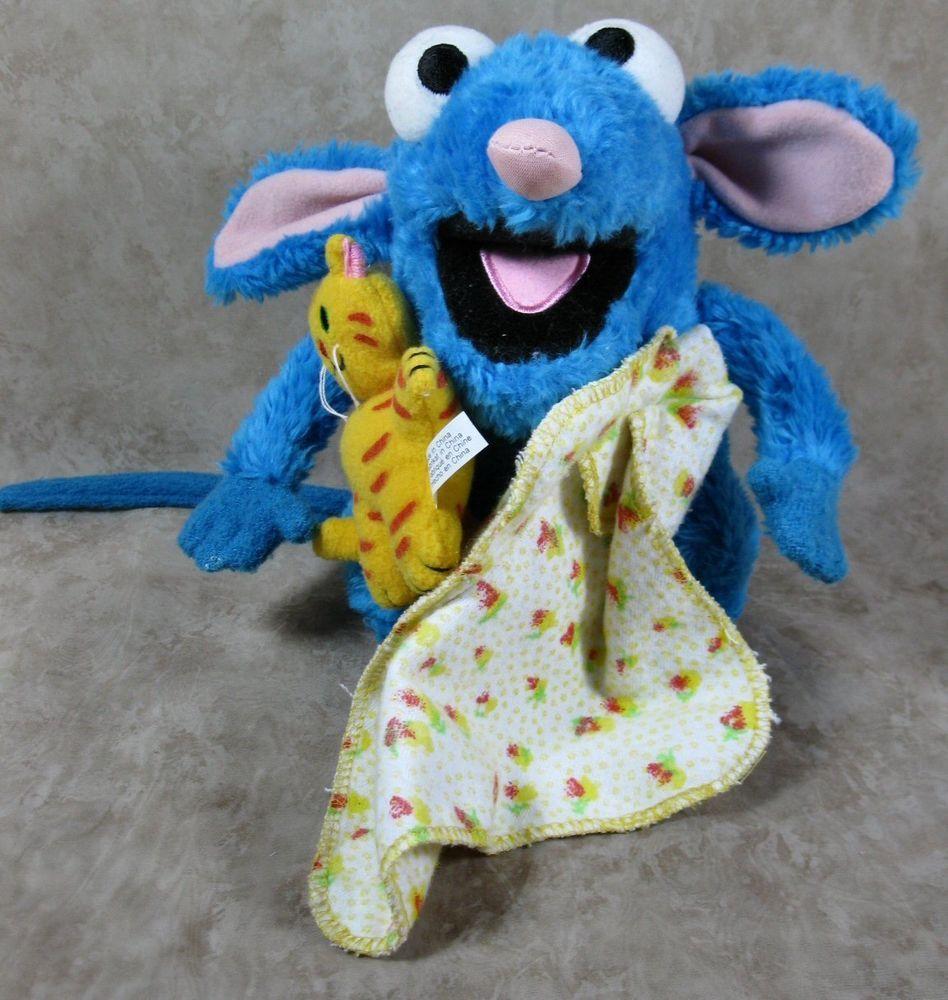 Disney Bear In The Big Blue House 7 Plush Tutter Mouse Wbalnket