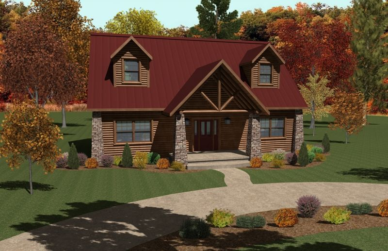 All American Homes brook view (plan b) floorplan of all american rustic collection