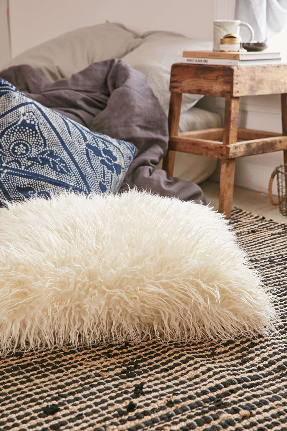 Mongolian Faux Fur Oversized Pillow | Oversized pillows, Fur and ...