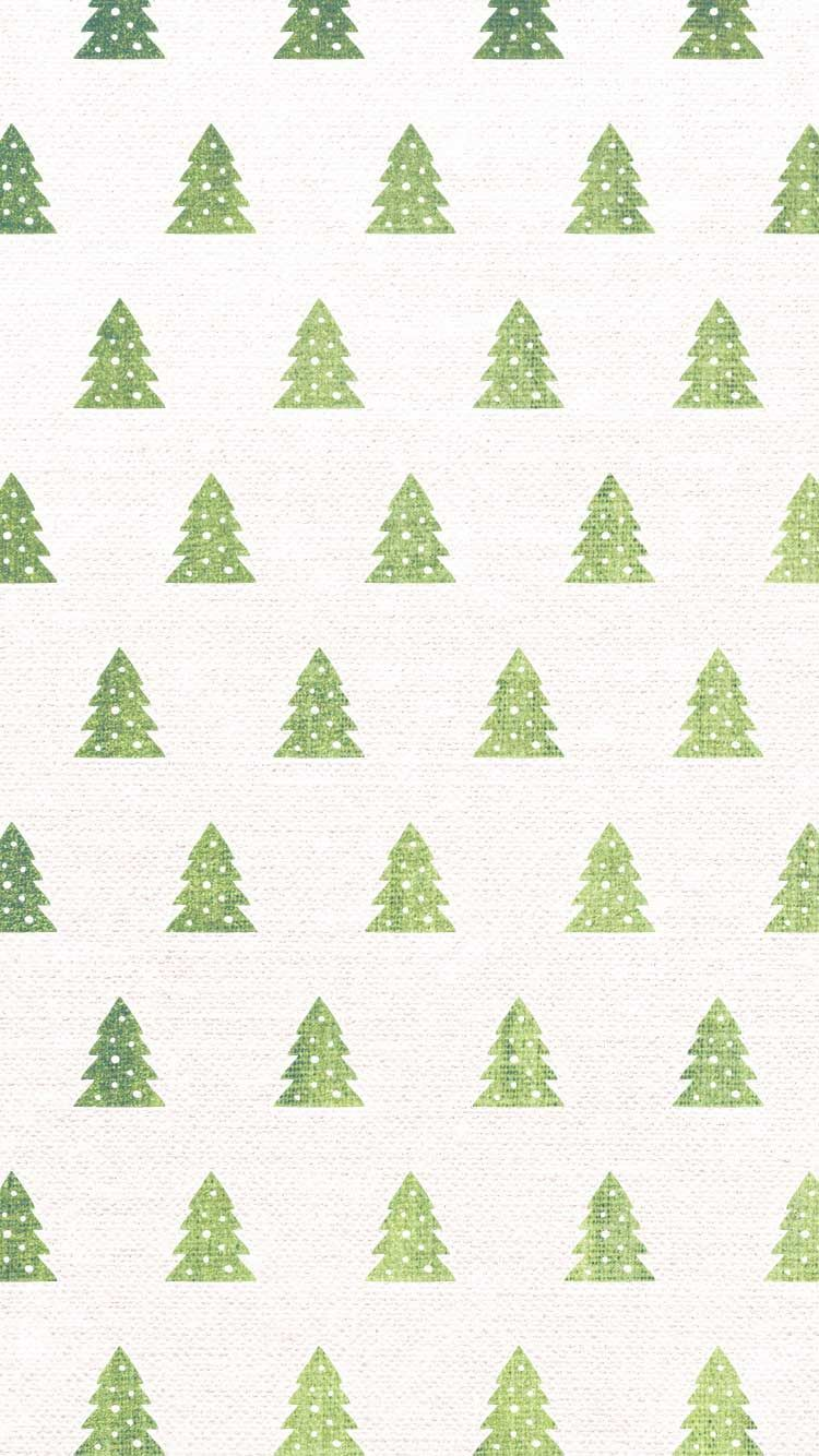 Christmas tree watercolor pattern | free iPhone holiday wallpapers ...