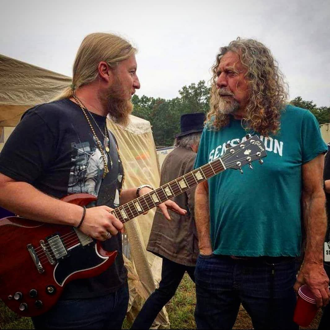 #Legends. Derek Trucks and Robert Plant hanging out backstage at the Lockn' Festival. The Tedeschi Trucks Band and Robert Plant both… #robertplant