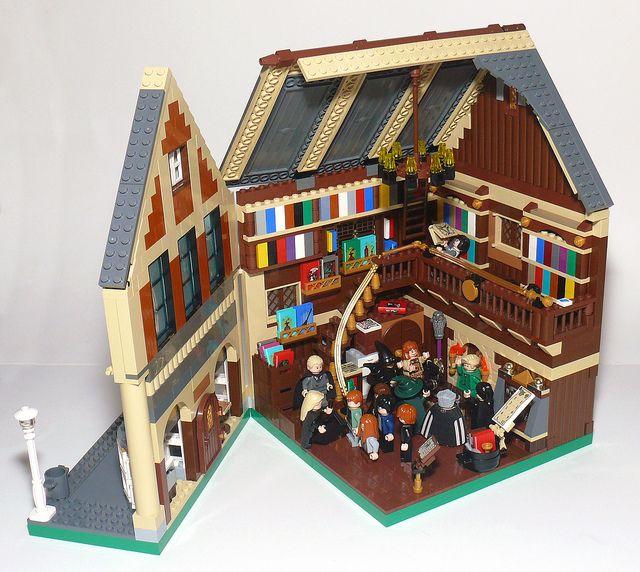 Flourish Blotts Interior Harry Potter Lego Sets Lego Harry Potter Lego Hogwarts