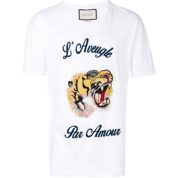 6bececda5 Gucci L'Aveugle Par Amour T-shirt ($590) ❤ liked on Polyvore ...