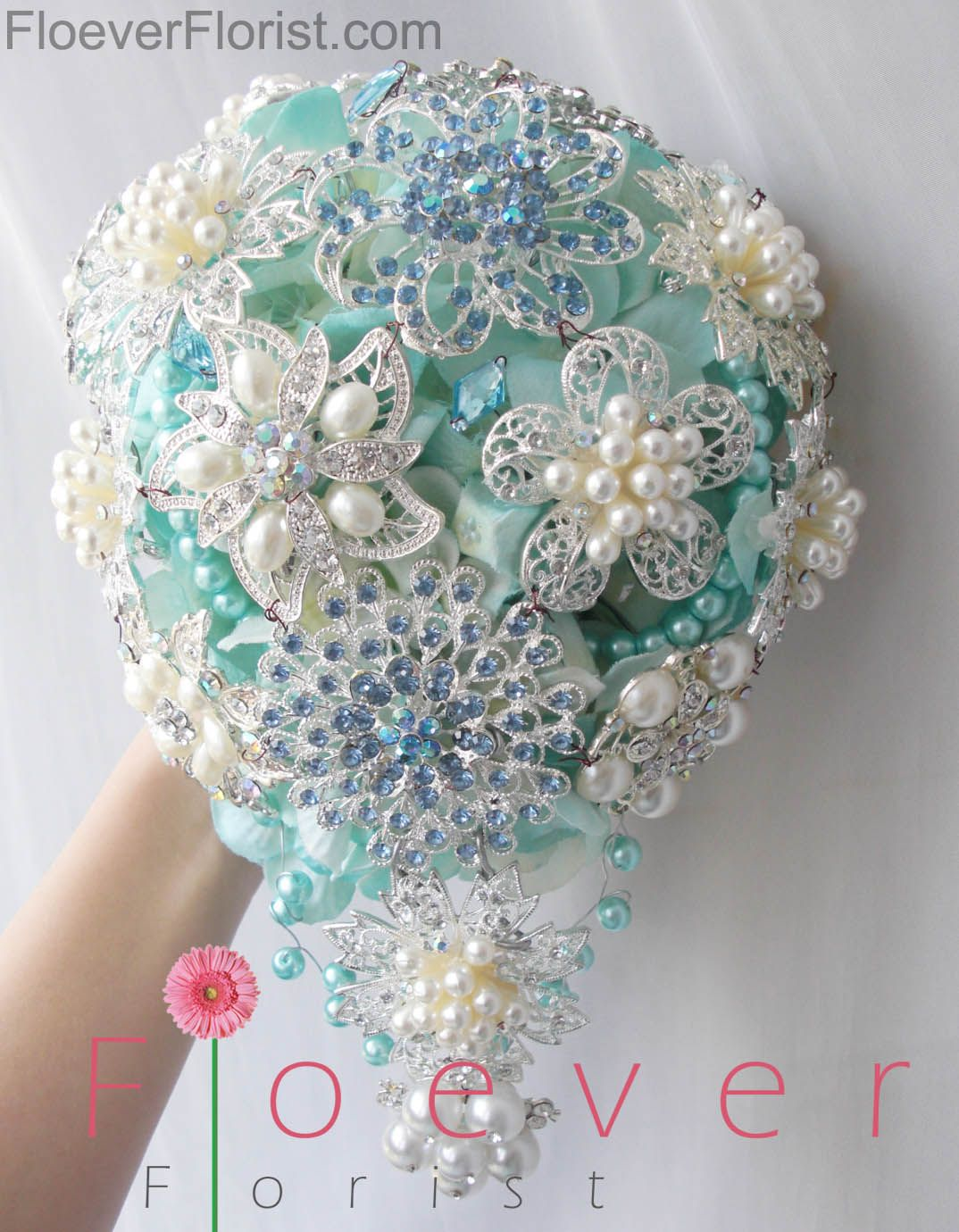 Tiffany Blue Jewel Bouquet | Jewel Bouquet | Pinterest | Tiffany ...
