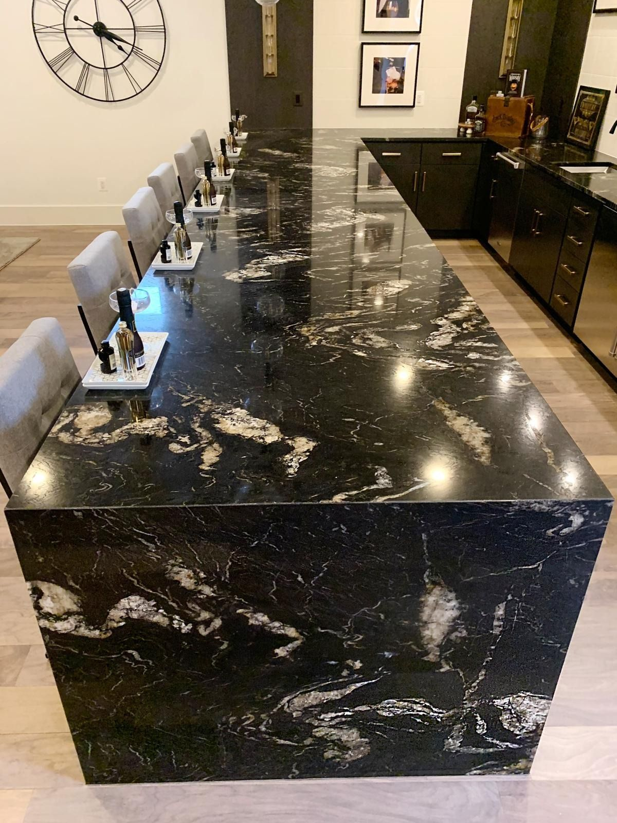 Titanium Polished Granite Slab Random 1 1 4 In 2020 Titanium Granite Dark Granite Countertops Granite Countertops Kitchen