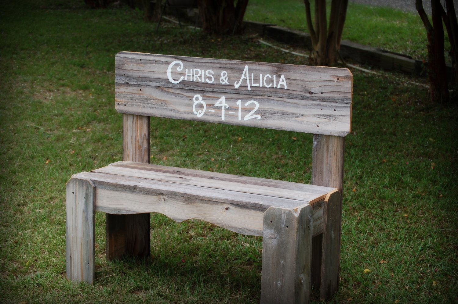wedding bench guest book bench personalized gift anniversary
