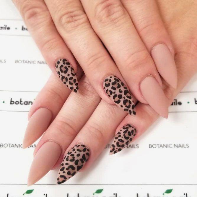 Leopard Nail Art Designs In 2020 Leopard Print Nails Leopard Nails Animal Print Nails Art
