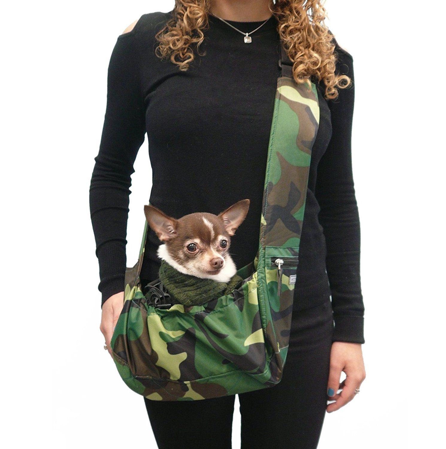 Puppy Toy Teacup Wearable Adjustable Pet Cross Body Shoulder Bag Waterproof Nylon Travel My Canine Kids Cloak /& Dawggie Dog Sling Carrier Tiny XXS Extra Extra Small Dogs