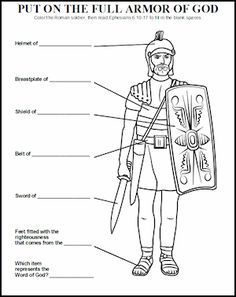Critical image intended for armor of god printable activities