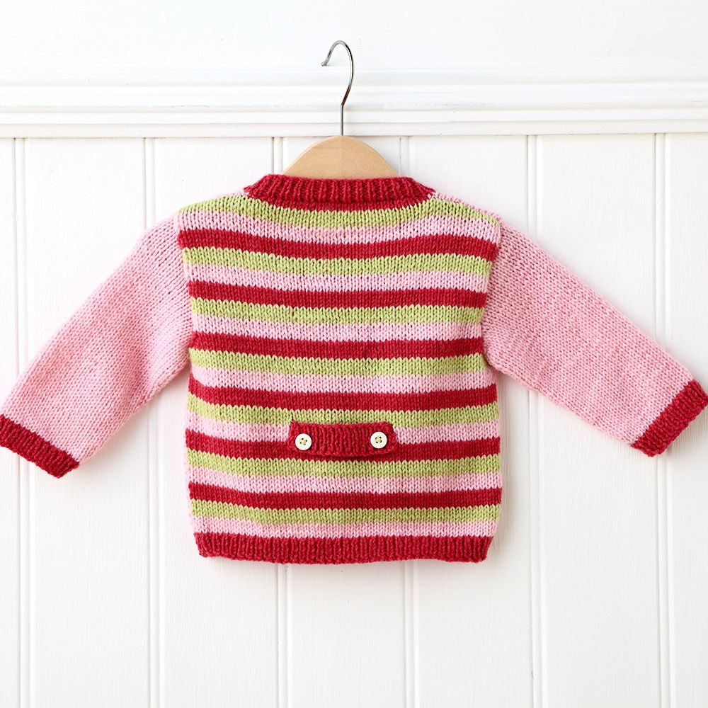 Knit a cute baby cardigan with our free knitting pattern ...
