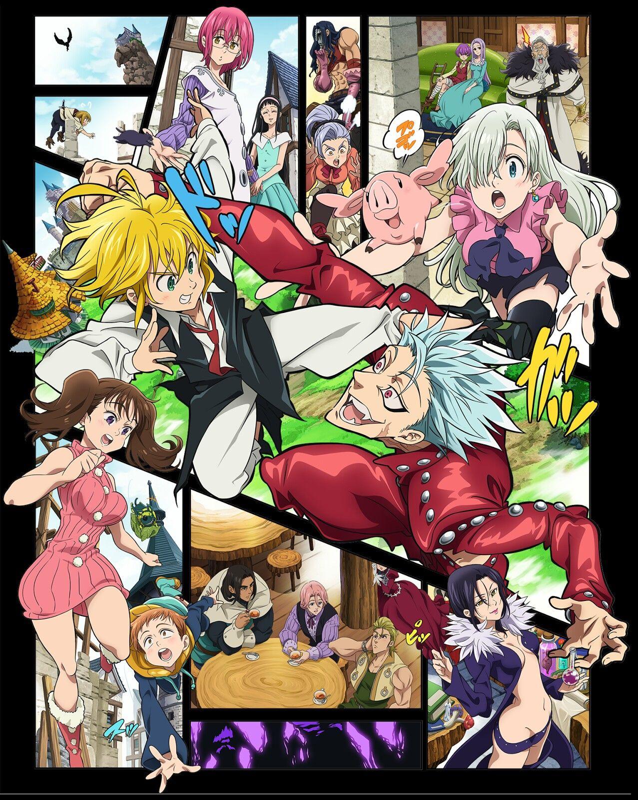 Pin de Belby Lynne em anime, manga Seven deadly sins