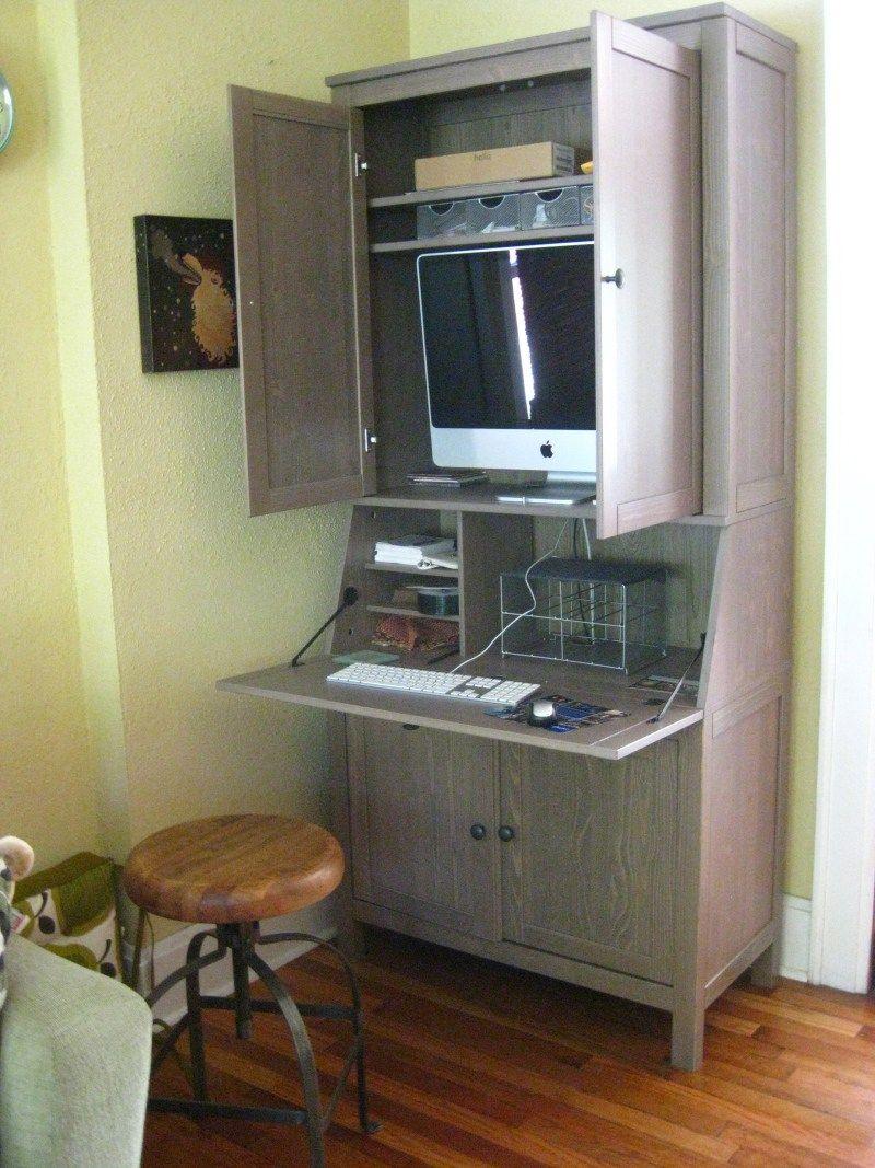 Diy Pallet Desk Armoire Hidden Desks