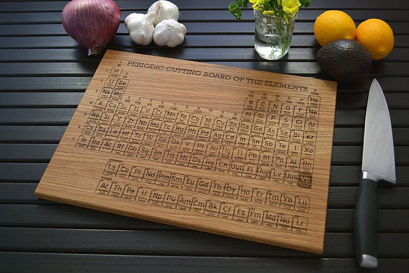 Engraved periodic table cutting board 12x16 personalized design engraved periodic table cutting board 12x16 personalized design custom name your own element urtaz Image collections