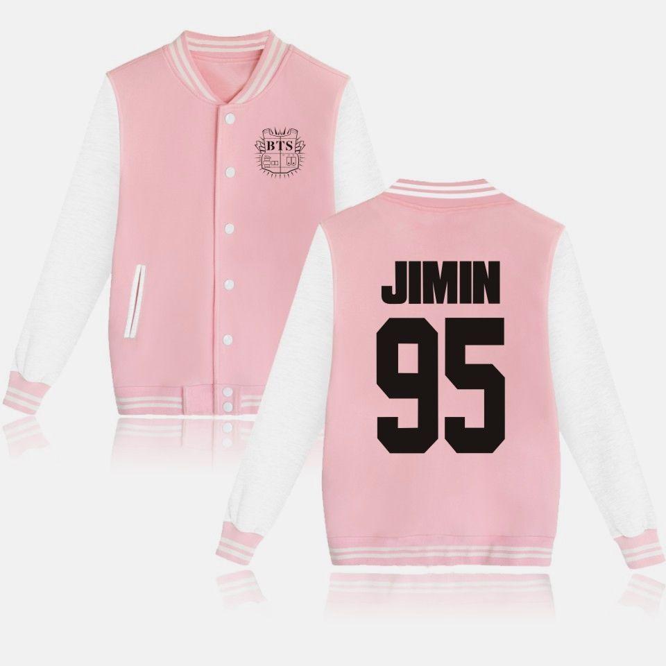 BTS Baseball Jacket Uniform Bangtan Boys Suga Jin Jimin Jung Kook Sweater Coat