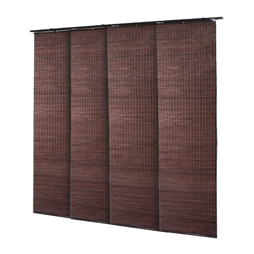 bamboo window panels vertical radiance bamboo window panel shade dark brown panels and
