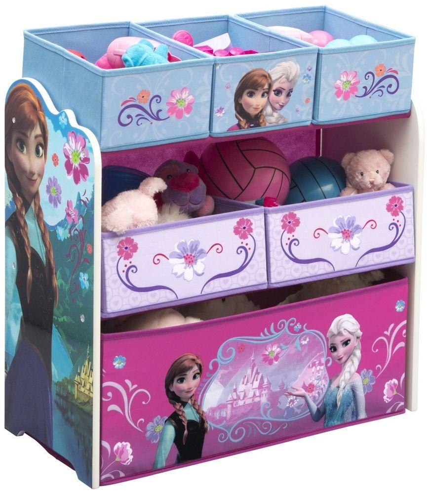 Kids Storage Bench Furniture Toy Box Bedroom Playroom: Toy Storage Organizer Disney Frozen Play Kids Room Box