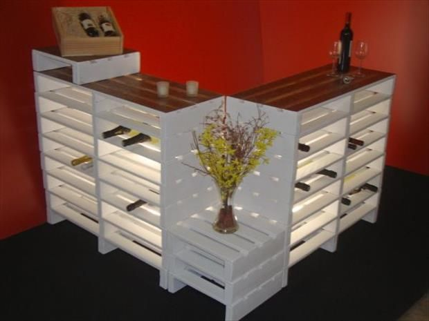 mini bar en bois de palettes voici 20 id es cr atives pallet diy pallet pallet bar. Black Bedroom Furniture Sets. Home Design Ideas