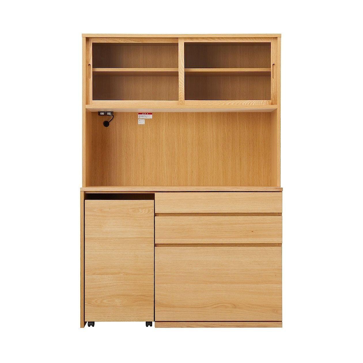木製カップボード 幅120cm オーク材 幅120 奥行44 高さ175 5cm 通販 無印良品 カップボード 無印 キッチンアイデア