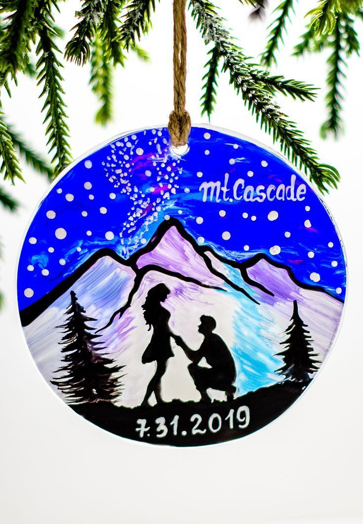 Engagement Ornament First Christmas Wedding Ornament 2019