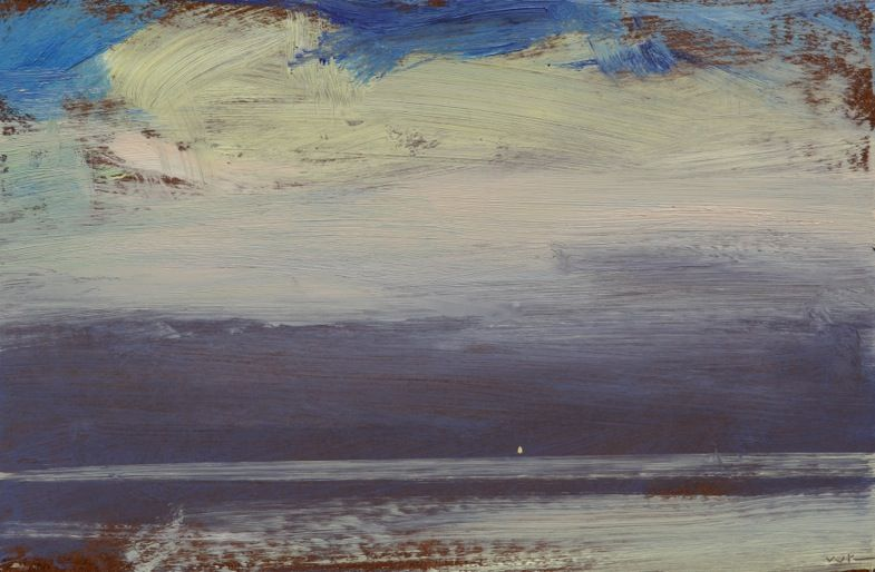 Artnews William Kocher Sky Painting Abstract Landscape Abstract