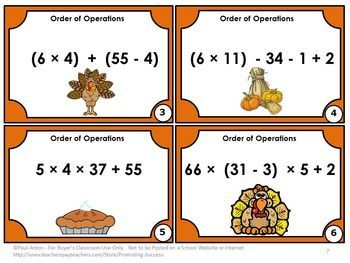 order of operations word problems 7th grade pdf