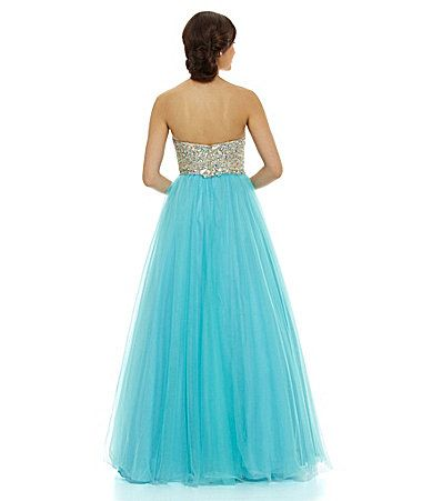 Glamour by Terani Couture Beaded TwoTone Ball Gown #Dillards