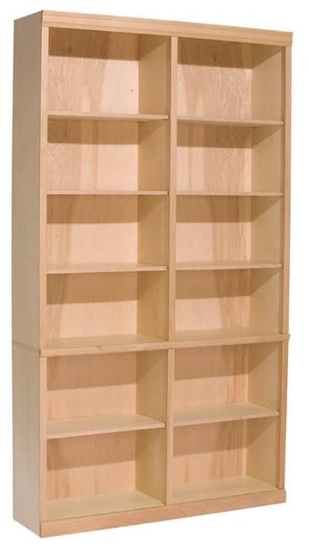 Unfinished Hardwood Bookcase 48 W X