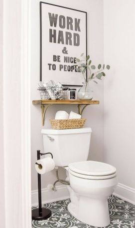 36 Ideas To Bathroom Wall Decor Above Toilet Pictures Small Spaces 39 Small Bathroom Decor Bathroom Decor Small Bathroom