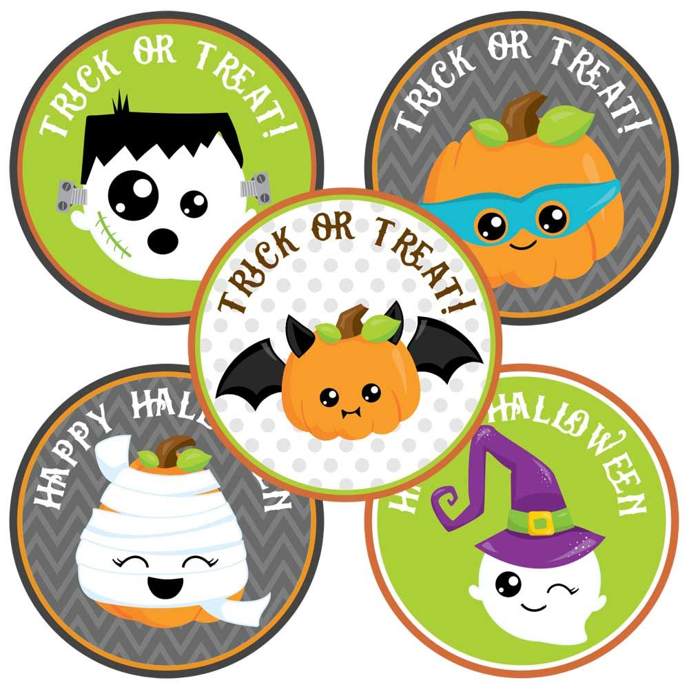 Halloween Owl Stickers Labels Set of 30 Party Favors and Envelope Seal Stickers