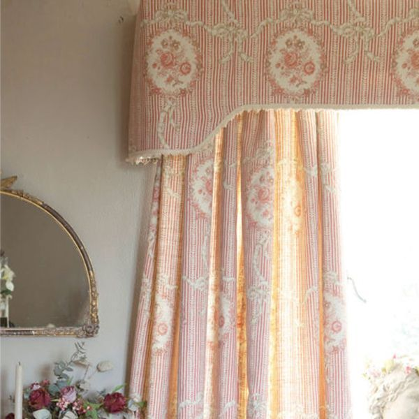 Brown Curtains Ticking Stripe Rustic Curtains Window